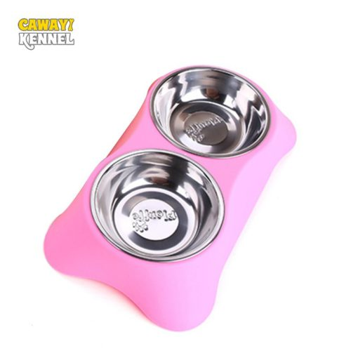 double-feeding-bowls-for-dogs-and-cats