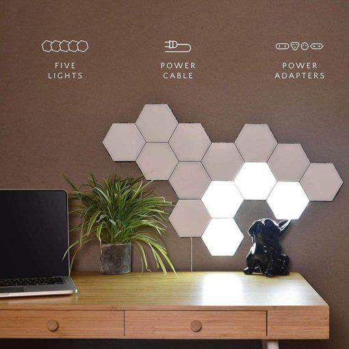 Modular Touch Sensitive Hexagonal Lamp